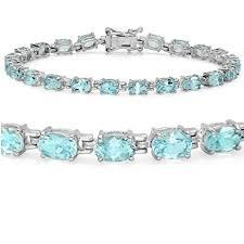 blue topaz bracelet images Sky blue topaz tennis bracelet set in sterling silver jpg