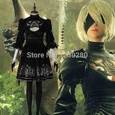 Custom Halloween Costumes Aliexpress Buy Custom Game Nier Automata Yorha 2b