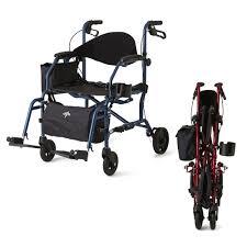 Transport Walker Chair Combination Rollator Transport Chair