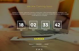 kareeb a free html coming soon website template jquery counter