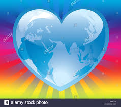 Cool World Maps by Illustration Of The World Map Inside A Blue Cool Heart On Colorful