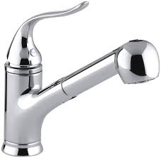Single Handle Kitchen Faucet Impressing Kohler Coralais Pullout Single Handle Kitchen Faucet