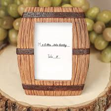 picture frame wedding favors barrel place card frame wedding favors
