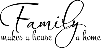 family makes a house a home 2 family wall decal
