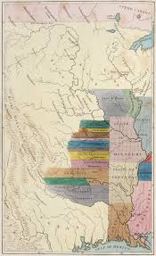 Map Of Native American Tribes Key Treaties Defining The Boundaries Separating English And Native