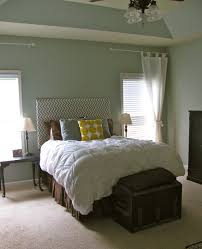 Grey And White Master Bedroom Remodelaholic Chevron Fabric Headboard Beautiful Master Bedroom