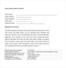 template for summary report status report exles virtuart me
