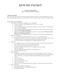 Resume Packet Extra Curricular Activities For Resume Free Resume Example And