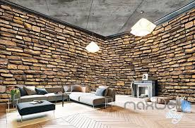 Wallpaper For Entire Wall | retro brick wall theme space entire room wallpaper wall mural decal