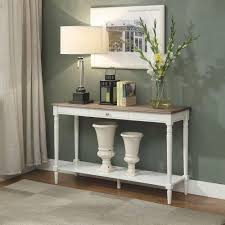 Driftwood Sofa Table by Convenience Concepts French Country Driftwood And White Console