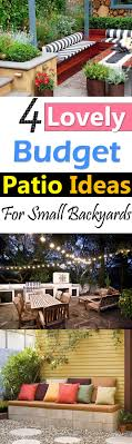 Small Backyard Ideas On A Budget 4 Lovely Budget Patio Ideas For Small Backyards Balcony Garden Web
