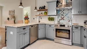 grey stained shaker kitchen cabinets lait grey shaker value direct cabinets