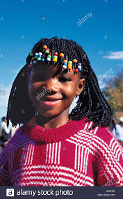 hair platts a lovely young zambian girl with a traditional hair style of