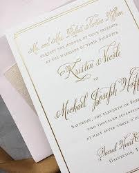Blush Wedding Invitations Kristen Michael U0027s Gold Rose Gold U0026 Blush Wedding Invitations
