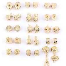 gold plated bracelet charms images Mix alloy beads antique gold chamilia diy spacer european murano jpg