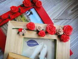 how to decorate photo frames with modeling caly tutorial gift