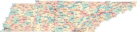 Road Map United States by Tennessee Counties Road Map Usa