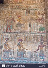 hieroglypic painting carvings on wall at the ancient egyptian hieroglypic painting carvings on wall at the ancient egyptian temple of khnum in esna luxor showing