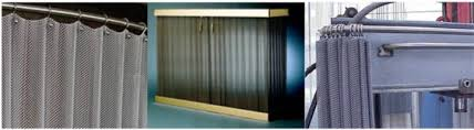 Metal Coil Drapery Flexible Fireplace Screen