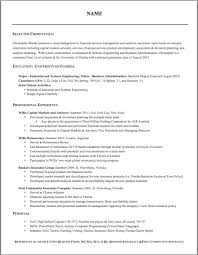 Investment Banking Resume Example by 28 M A Resume Sample Resume Format Guide Chronological
