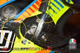 agv motocross helmet rossi u0027s agv pista gp helmet crash analysis