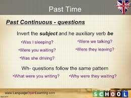 write the pattern of past tense and give exle english grammar past tense 1