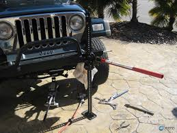 stock jeep suspension jeep control arm install