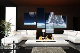 living room photography 4 piece canvas wall decor snowy mountain multi panel art