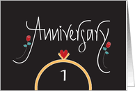 1st wedding anniversary cards from greeting card universe