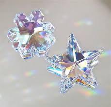 swarovski set of ab 28mm ab snowflake 25mm prism