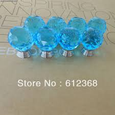 Glass Door Knobs 50pcs 30mm K9 Crystal Glass Door Knobs Drawer Cabinet Furniture