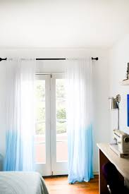Threshold Ombre Curtains diy dip dyed ombre curtains bright blue hair beige room and