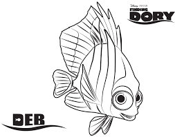 Damselfish Deb In Finding Dory And Nemo Coloring Page Get Nemo Color Pages
