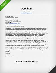 Cover Resume Letter Sample by Professional Electrician Cover Letter Resume Genius
