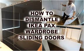 Ikea Aneboda Dresser Slides by Ikea Pax Wardrobe Dismantling Youtube