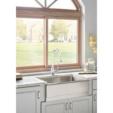 shop danze opulence stainless steel 1 handle pull out danze d455557ss opulence stainless steel pullout spray kitchen
