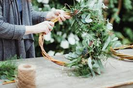 wedding wreath a christmas wedding wreath tutorial with flowers by breige uk