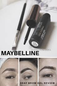 tattoo eyebrows by maybelline maybelline tattoo brow easy peel off tint review niapattenlooks