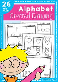 alphabet directed drawing printable worksheets alphabet and phonics