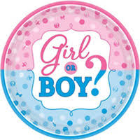 gender reveal cake topper girl or boy gender reveal cake topper 4 3 4in x 4 1 4in party city