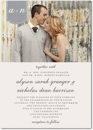 filigree crest photo wedding invitation available in 40 colors