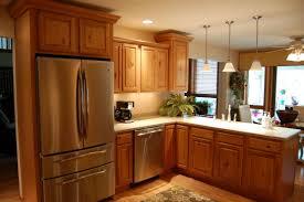 u shaped kitchen plan white theme with dark island and three