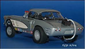 1957 corvette gasser 1961 corvette gasser diecast model legacy motors