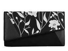 Shoo Metal ruby shoo cairo s black clutch bag with detachable metal chain