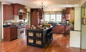 kitchens with different colored islands wood shavings kitchen island