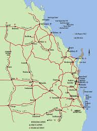 coast map south east queensland map gold coast australia