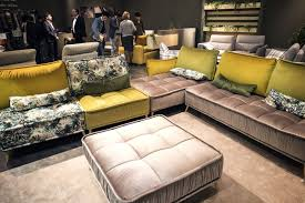 modular sofas for small spaces pops of yellow modular sofa composition add brightness for small