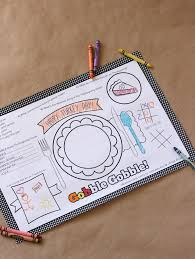 coloring placemats kids thanksgiving placemat 12 free thanksgiving printables my