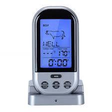 thermometre cuisine compatible induction viande alimentaire télécommande sans fil en plein air barbecue