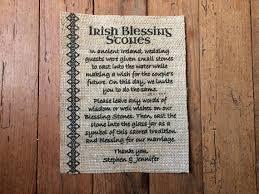 Wishing Rocks For Wedding Irish Blessing Stones Sign Wedding Burlap Decor